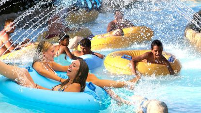 A rendering of Wahoo River, a planned expansion of Castaway Creek at Six Flags America in Prince George's County.
