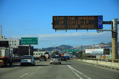 Highway 101 in San Francisco, March 20, 2020, days after residents were ordered to shelter in place.