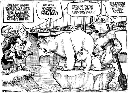 KAL checks in with the polar bears on how Maryland should handle a new Chesapeake Bay crossing.