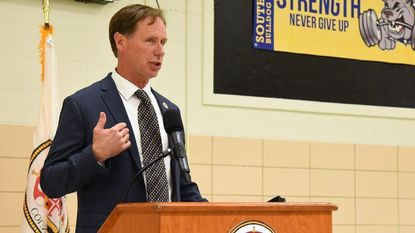 Pittman's first budget includes back raises for teachers, tax increases