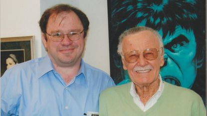 Chris Kaltenbach, Stan Lee and The Incredible Hulk in Lee's Beverly Hills office, February 2009.