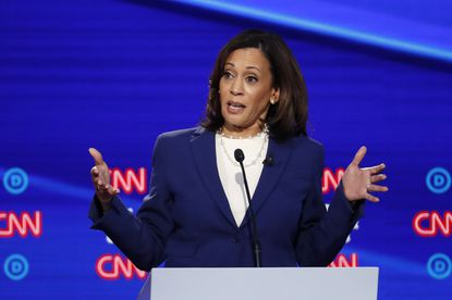 Democratic presidential candidate Sen. Kamala Harris, D-Calif., speaking during a recent Democratic presidential primary debate hosted by at Otterbein University announced last week she was abandoning her bid for the office.