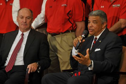 Athletic director Kevin Anderson (right) is leading Maryland's move from the ACC to the Big Ten.