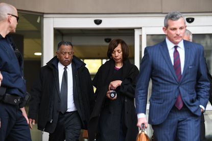 Former Baltimore Mayor Catherine Pugh leaves the downtown federal courthouse after she pleaded guilty to conspiracy and tax evasion charges in federal court last Thursday.