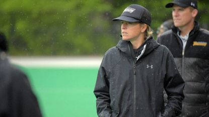 Towson coach Sonia LaMonica during the NCAA women's lacrosse tournament at the Field Hockey & Lacrosse Complex in College Park last year.