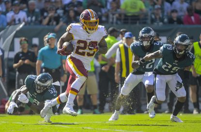 Washington Redskins running back Derrius Guice has an injury to the meniscus in his right knee and could miss several weeks after undergoing surgery Thursday.
