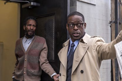"""Ron Cephas Jones as William, Sterling K. Brown as Randall in the """"This Is Us"""" pilot."""