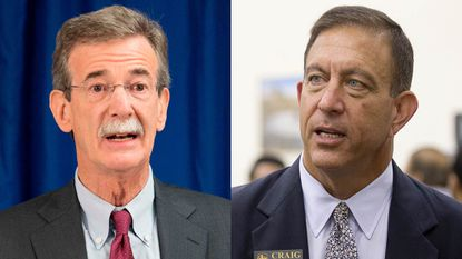 Democratic Attorney General Brian Frosh of Maryland and Republican challenger Craig Wolf.