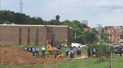Baltimore City Fire Department workers were unable to rescue a construction worker buried under dirt June 5. The worker, 19, had been working on the sewer lines in a 15-foot hole that had not been properly shored up, spokeswoman Blair Adams said.