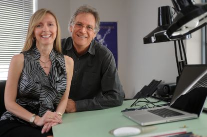 """Tiffany Zappulla, set designer, left, and Michael Corenblith, production manager, are working on the HBO film """"Game Change,"""" which is filming in Baltimore."""