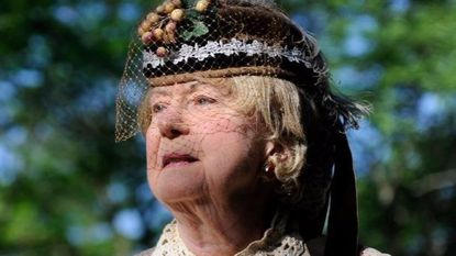 """Juanita """"Jeannie"""" Walden appeared for many years in Civil War dress on Memorial Day at Dulaney Valley Memorial Garden."""