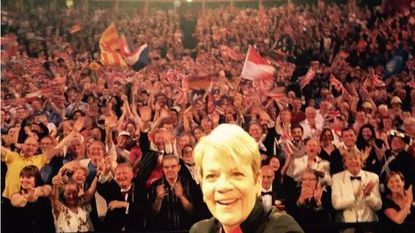 Marin Alsop's Twitter selfie from the 2015 Last Night of the Proms at London's Royal Albert Hall.