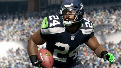 """A screenshot of """"Madden 13,"""" due for release in August under EA's current exclusive licensing deal with the NFL."""