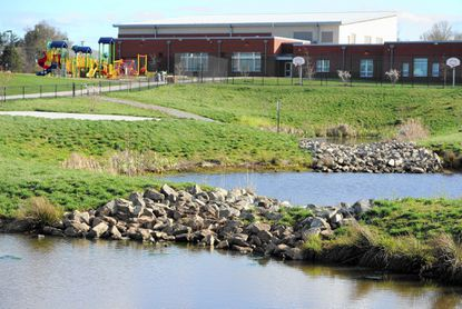 Harford County school officials in April approved a $120,000 contract to repair the 3-year-old stormwater management system at Red Pump Elementary School near Bel Air. School officials say they are concerned about the need for funds to repair aging stormwater facilities at older school sites.
