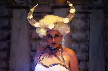 """Allison Clendaniel as Queen of the Night in Annex Theater's production of Mozart's """"The Magic Flute"""""""