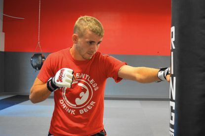 Jesse Stirn prepares for his upcoming mixed martial arts fight at Ground Control gym in Columbia.