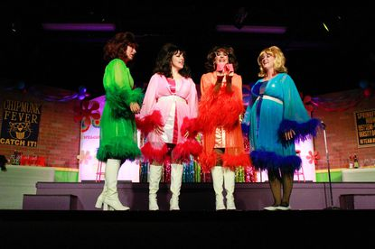 """Pictured left to right, Emily Elborn, Natalie Knox, Stephanie Mahoney and Sarah Sickels reprise their respective roles as Betty Jean, Cindy Loui, Missy and Suzy -- The Marvelous Wonderettes -- in the upcoming Tidewater Players' presentation of """"The Marvelous Wonderettes: Dream On,"""" playing from Feb. 28 through March 8 at the Cultural Center at the Opera House in Havre de Grace."""