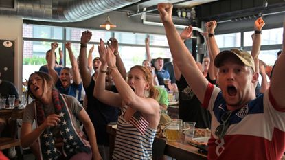 Baltimore's American Outlaws draw next generation — and even a rival fan — to Women's World Cup watch party