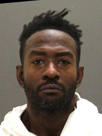 Karl Anderson, 39, of Baltimore, above, has been arrested and charged with the murder of Bernard Richardson. Police say he fatally stabbed Richardson during an altercation.