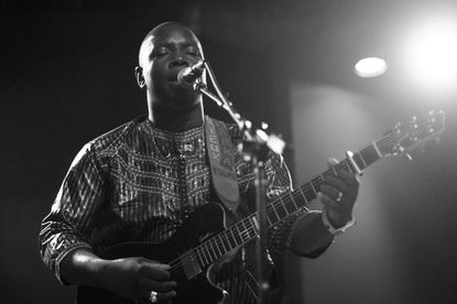 Vieux Farka Touré performs at the Creative Alliance on July 24.