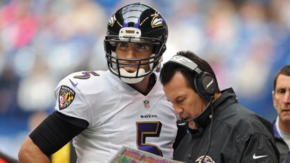 Joe Flacco and Gary Kubiak seem to get along, and the relation ship has made the Ravens' offense hum this season.