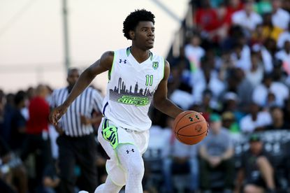 Team EZ Pass' Josh Jackson in action against Team Doo Be Doo in the Under Armour Elite 24 game. By some accounts the nation's No. 1 prospect from the Class of 2016, Jackson recently said he could envision playing collegiately at Maryland.