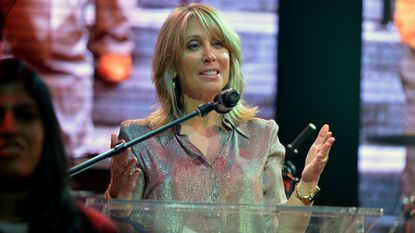 Stacey Snider, seen at a 2014 fundraiser, took aim at Netflix on Thursday.