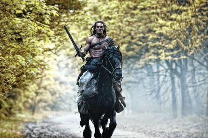 """Jason Momoa stars as the new Conan in """"Conan The Barbarian"""" in 3-D, now playing at area theaters."""