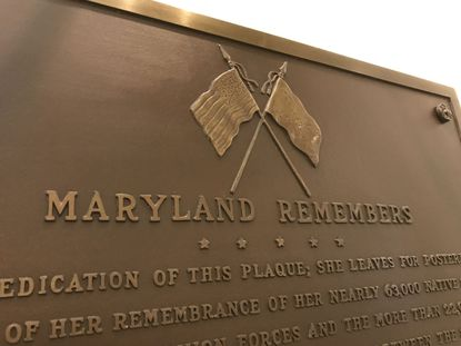 Maryland House of Delegates Speaker Adrienne A. Jones wants a plaque removed from the State House in Annapolis that commemorates both Union and Confederate soldiers who fought in the Civil War. The plaque was modified last year to cover up the American flag and the Confederate flag.