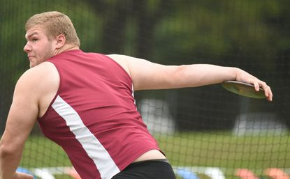 Hereford High's Mike Nash didn't lose in discus or shot put in Maryland during the spring track season. The North County News Athlete of the Year for the second year in a row, won state titles in both events and he also played football in the fall.