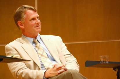 Maryland Sen. Allan Kittleman, a Republican from Howard County, listens as panelists debate whether the state should legalize same-sex marriage during an event earlier this month at the University of Maryland.