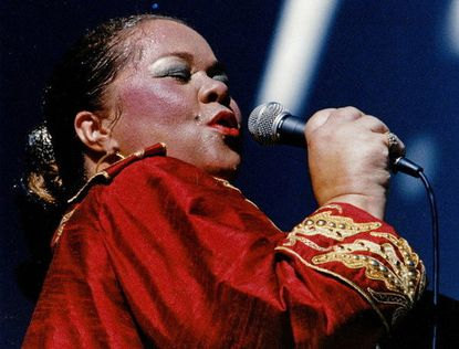 Etta James performs at the Playboy Jazz Festival, June 17, 1990