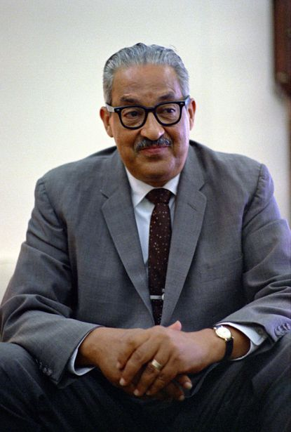 Thurgood Marshall was named to the Supreme Court by President Lyndon Johnson in June 1967.