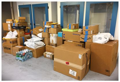 Howard County police officers nabbed two package thieves last night with a truckful of stolen holiday deliveries in Columbia.