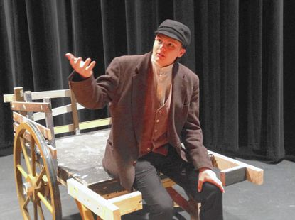 """""""Fiddler on the Roof"""" is coming to the South Carroll High School stage. Here, Tevye, played by Federico Alvarado, talks to God in the scene before """"If I were a Rich Man."""""""