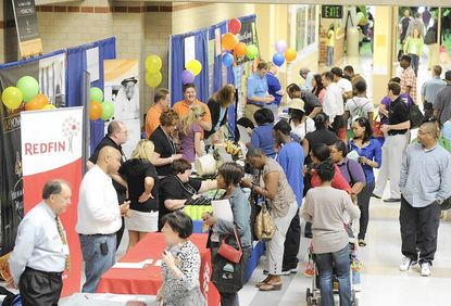 A record number of people showed up at the sixth annual Howard County Housing Fair, held Saturday, April 14 at Long Reach High School.