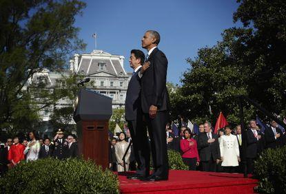 President Barack Obama and Japanese Prime Minister Shinzo Abe.