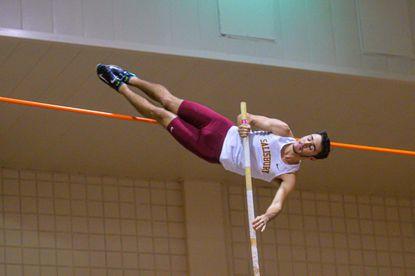 Liberty High School graduate Zach Stump, a sophomore at Salisbury University, has set the indoor track school record three times this winter.