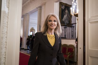 White House senior adviser Kellyanne Conway arrives at the White House before a March, 2018, event.