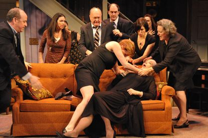 "A heated scene from ""August: Osage County"" at Everyman Theatre"