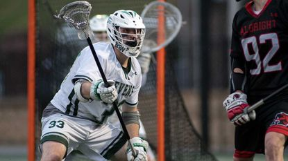 The Stevenson men's lacrosse team will feature two new starters on attack and a new goalkeeper, but if a defense anchored by senior defensemen Dominic DeFazio (pictured) and Dylan Harris can hold off opponents, the Mustangs might be able to make a run in the NCAA tournament.