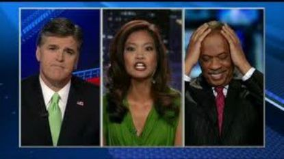 The faces of a cable news throwdown