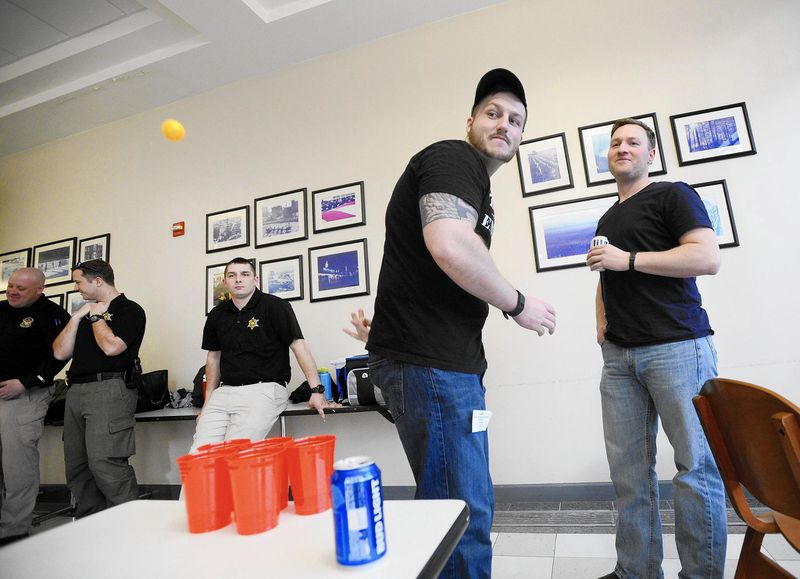 Drinking for the job: Recruits learn to perform field