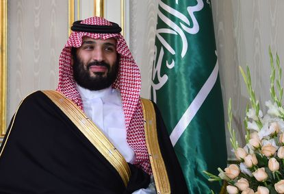 Saudi Arabia's Crown Prince Mohammed bin Salman at the Tunisian presidential palace in Carthage, Tunis, on Nov. 27, 2018.