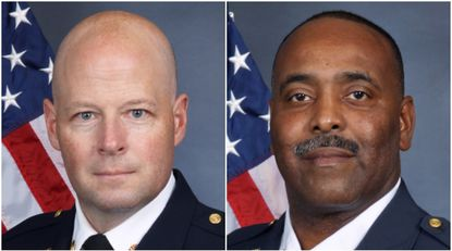 Gordon Wallace, left, and Louis Winston were appointed as deputy chiefs for the Howard County Department of Fire and Rescue Services.