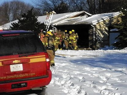 Jarrettsville garage burns Thursday