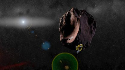 An artist's impression of NASA's New Horizons spacecraft encountering 2014 MU69, an object thought to be unchanged since the solar system formed 4.6 billion years ago.