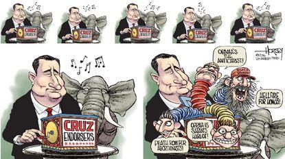 Cruz's apocalyptic preachers