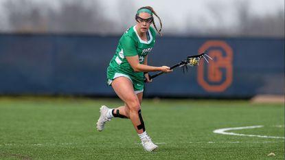 York College of Pennsylvania senior women's lacrosse defender Nicole Clauterwas recently selected as the 2018-19 CAC Female Senior Scholar-Athlete of the Year.