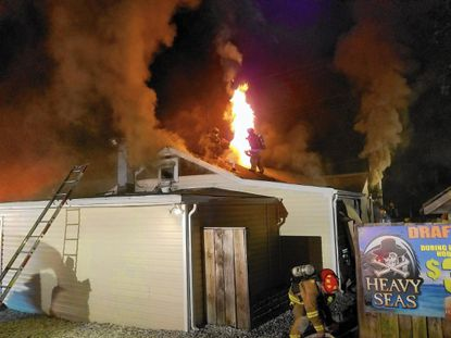 Nearly three years after Anne Arundel County firefighters battled a blaze at the Coconut Charlie's restaurant in Pasadena, federal prosecutors said a man burned down the restaurant to destroy a videotape of him assaulting his girlfriend.